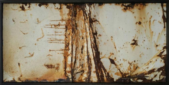 Passi, 2013, Ferro, smalto, 160x70 cm