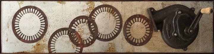 Sounds of migratory birds, 2013, iron , steel , cast iron, 60×30 cm
